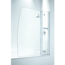 Frameless Sail 1050mm with Panel Plain Glass White