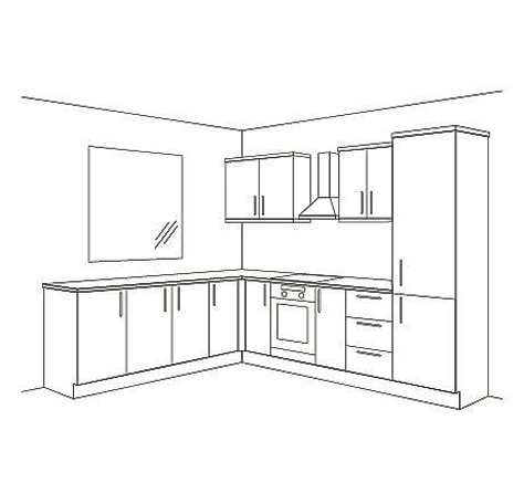 L-Shape kitchen Layout
