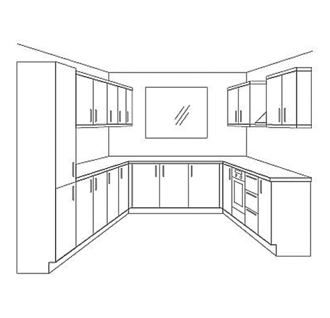 U-Shape kitchen Layout