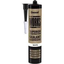 Geocel Ecoseal The Works Pro Multi Purpose Sealant& Adhesive White 300ml