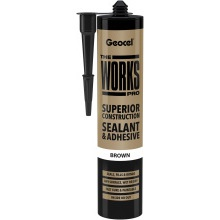 Geocel The Works Pro Superior Construction Sealant & Adhesive Brown 290ml