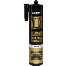 Geocel The Works Pro X Ultimate Construction High Grab Adhesive White 290ml