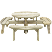 Grange Round Garden Table with Seats