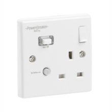 Greenbrook K21WPA-C Powerbreaker White Rcd Single Socket