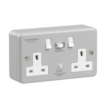 Greenbrook K22MPA-C Powerbreaker Metalclad Rcd Twin Socket