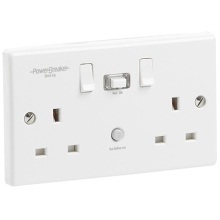 Greenbrook K22WPA-C Powerbreaker White Rcd Twin Socket