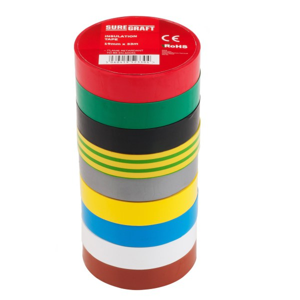 Suregraft PVC Tape 19mm x 33m Green/Yellow