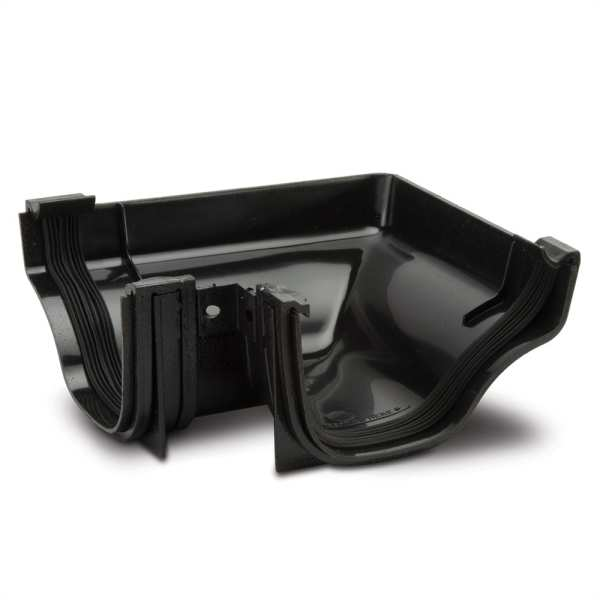 Gutter Internal Angle 90 Black 130mm