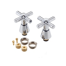 Large Con Cross Heads and Conversion Kit Chrome Half Inch
