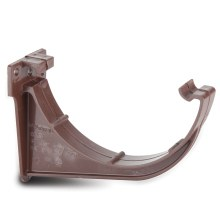 Half Round Gutter Fascia Bracket Brown 112mm