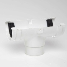 Half Round Gutter Running Outlet White 75mm