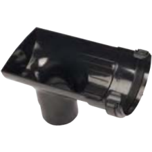 Half Round Gutter Stopend Outlet 112mm Black