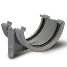 Half Round Gutter Union Bracket Grey 112mm
