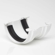 Half Round Gutter Union White 75mm