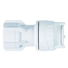 Hand Tighten Tap Connector White 15mmx3/4inch