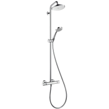Hansgrohe Croma 220 Showerpipe With Shower Arm Swivelling