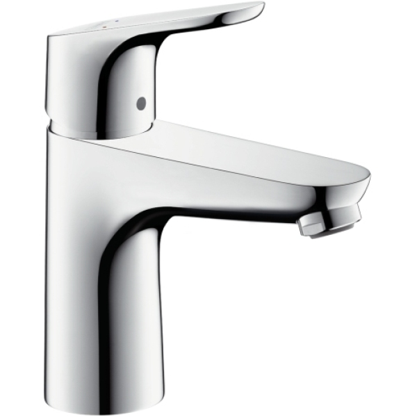 Hansgrohe Single Lever Basin Mixer 100 without Pull Rod/Pop Up Waste