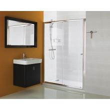 Haven Sliding Door Chrome 1400mm Chrome