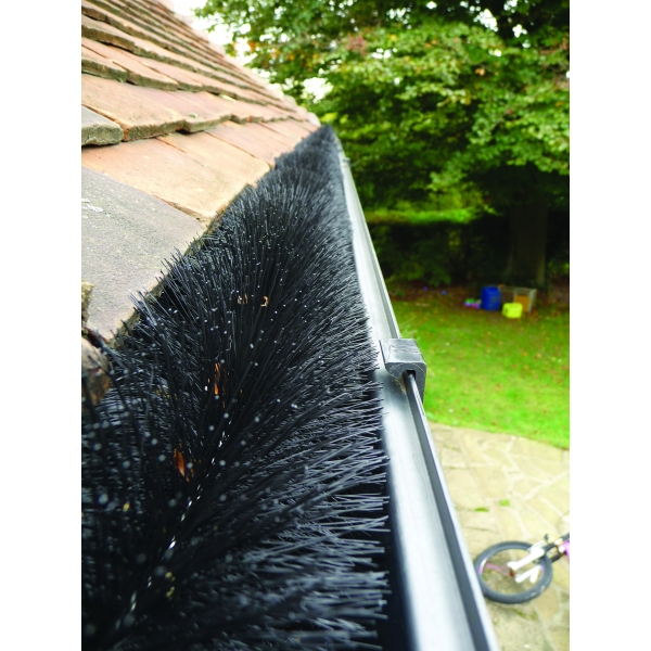 Hedgehog Gutter Guard 4 mtr Length Black