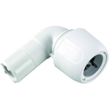 HEP2O 90 Degree Single Socket Elbow White 15mm