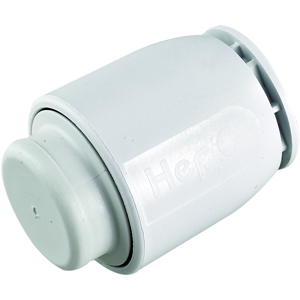 HEP2O Demountable Stop End White 15mm