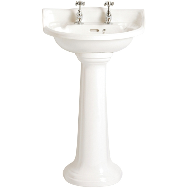 Heritage Dorchester Cloakroom Basin White 1 Taphole White