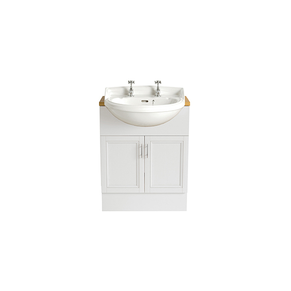 Heritage Dorchester Medium Semi-Recessed Basin 2 Taphole White