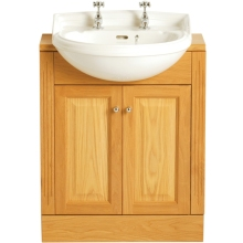 Heritage Dorchester Medium Semi-Recessed Basin 1 Taphole White