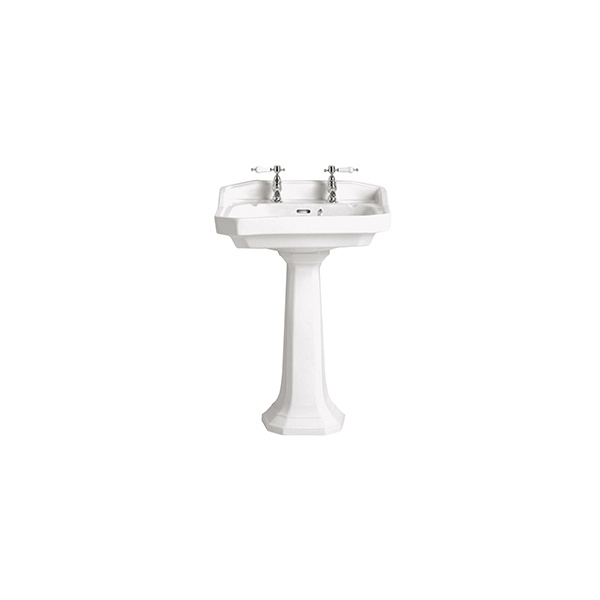 Heritage Granley Standard Basin White 1 Taphole