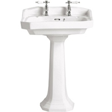 Heritage Granley Standard Basin White 2 Taphole