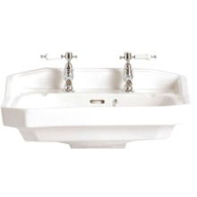 Heritage Granley Standard Basin White 3 Taphole
