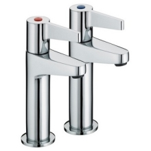 Bristan Design Utility Lever Taps 110mm Chrome High Neck Taps