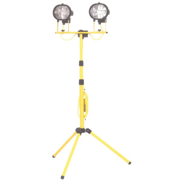 hsc powerman folding leg double tripod light 240v
