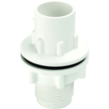 Hunter O/Flow O225 22mm White Str Tank Connector
