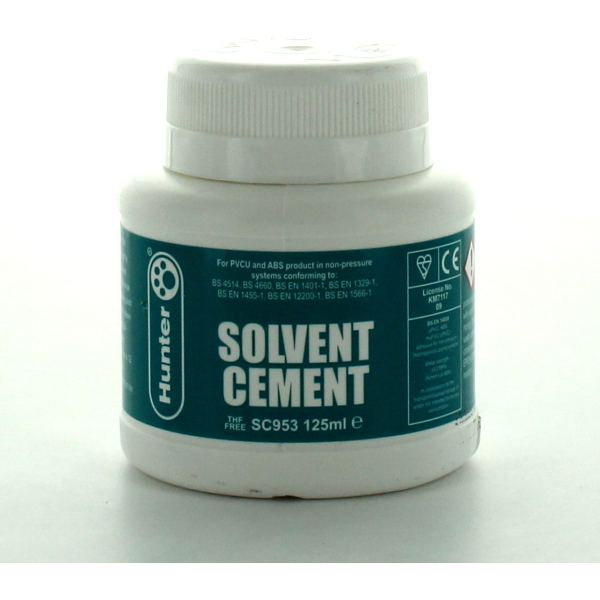 Hunter sc ml solvent cement bs for pvc