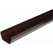 Hunter Squareflo R516 114mm Black Square Gutter 2m