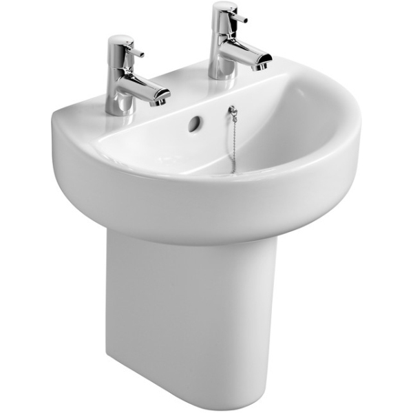 Ideal Standard Concept Sphere 45cm Hand Rinse Basin Two Taphole