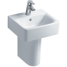 Ideal Standard Cube 55cm Short Projection Pedestal Basin One Taphole