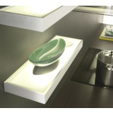 Aluminium Illuminated Glass Shelf