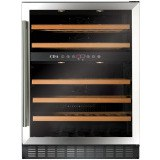 FWC603SS 60cm dual zone, freestanding/ under counter wine cooler