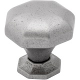 Natural Iron fluted Knob and Backplate