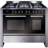 RV1002SS 100cm twin cavity dual fuel range cooker
