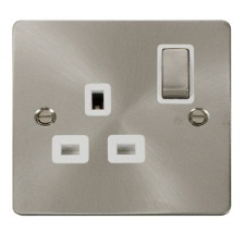 Brushed Stainless Steel Sockets & Switches