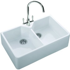 Double Bowl Ceramic Sink