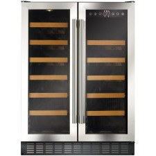 FWC623SS 60cm double door, freestanding/ under counter wine cooler