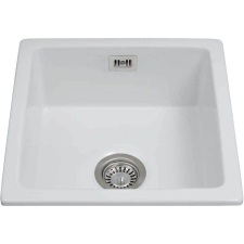 KC42WH Undermount single bowl ceramic belfast sink