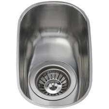 KCC21SS Undermount curved single bowl sink