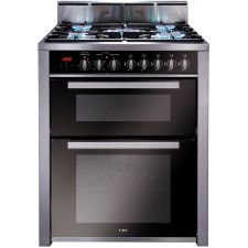 RV701SS 70cm twin cavity dual fuel range cooker