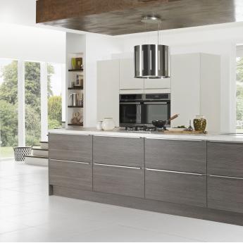 Matt Avola Grey Textured Buildbase - Matt grey kitchen units