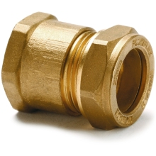 Iron Straight Adaptor Female 22mm 3/4inch Copper